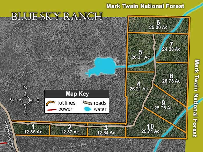 Blue Sky Ranch Tract Layout