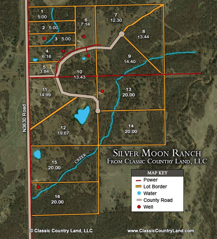 Silver Moon Ranch Tract Layout